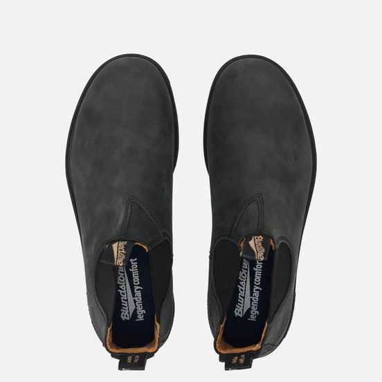 Мужские ботинки Blundstone 587 Round Toe Chelsea Leather Black