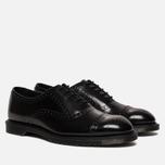 Мужские ботинки броги Dr. Martens Morris Polished Smooth Black фото- 2
