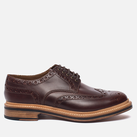 Мужские ботинки броги Grenson Archie Brogue Sole Leather Chestnut