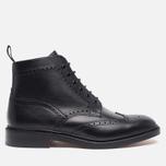 Мужские ботинки броги Loake Burford Black фото- 0