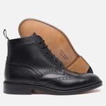 Мужские ботинки броги Loake Burford Black фото- 2