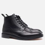 Мужские ботинки броги Loake Burford Black фото- 1