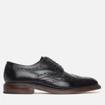 Мужские ботинки броги Loake Dawson Polished Black фото- 0