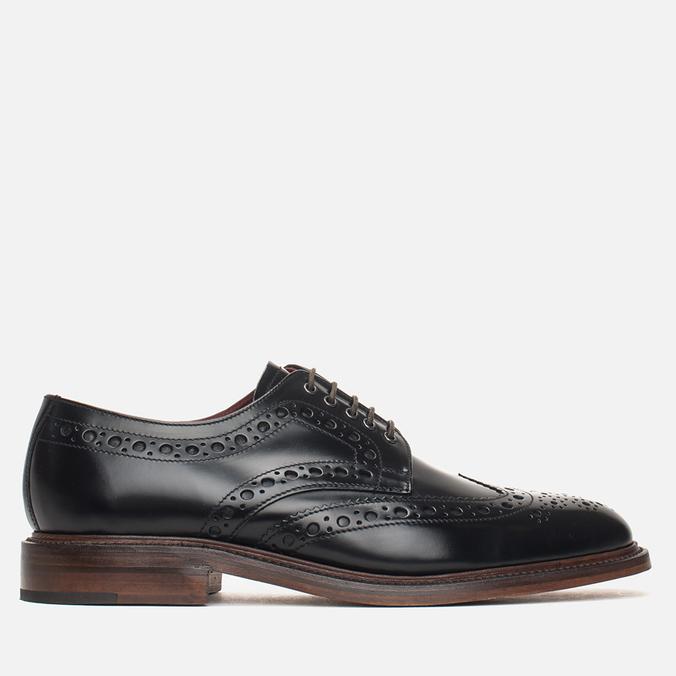 Мужские ботинки броги Loake Dawson Polished Black