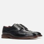 Мужские ботинки броги Loake Dawson Polished Black фото- 1