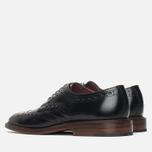 Мужские ботинки броги Loake Dawson Polished Black фото- 2