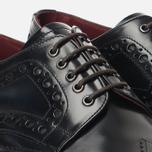 Мужские ботинки броги Loake Dawson Polished Black фото- 5