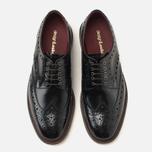 Мужские ботинки броги Loake Dawson Polished Black фото- 4