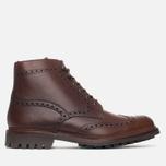 Мужские ботинки броги Loake Mulligan Brown Waxy фото- 0