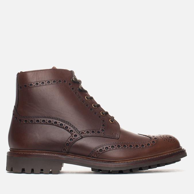 Мужские ботинки броги Loake Mulligan Brown Waxy