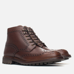 Мужские ботинки броги Loake Mulligan Brown Waxy фото- 1