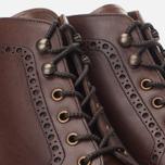Мужские ботинки броги Loake Mulligan Brown Waxy фото- 5
