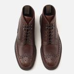 Мужские ботинки броги Loake Mulligan Brown Waxy фото- 4