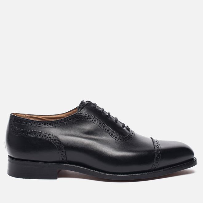 Мужские ботинки броги Tricker's Belgrave Black