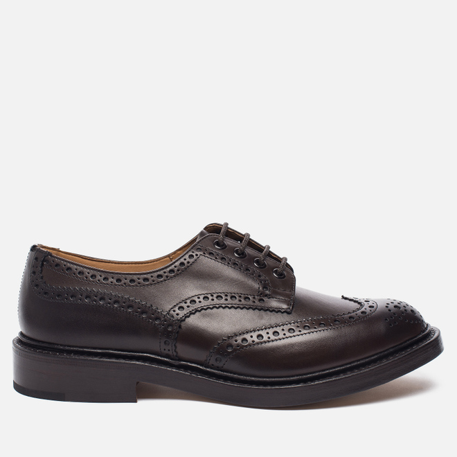 Мужские ботинки броги Tricker's Brogue Bourton Sole Leather Espresso Burnished