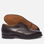 Мужские ботинки броги Tricker's Brogue Oxford Epsom Espresso Burnished фото- 2