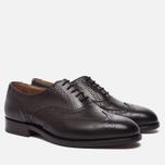 Мужские ботинки броги Tricker's Brogue Oxford Epsom Espresso Burnished фото- 1