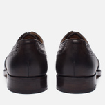 Мужские ботинки броги Tricker's Brogue Oxford Epsom Espresso Burnished фото- 3