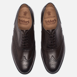 Мужские ботинки броги Tricker's Brogue Oxford Epsom Espresso Burnished фото- 4