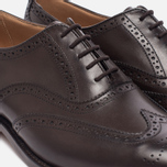Мужские ботинки броги Tricker's Brogue Oxford Epsom Espresso Burnished фото- 5