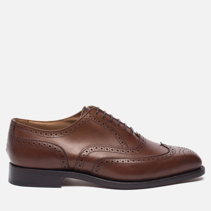 Мужские ботинки броги Tricker's Brogue Oxford Piccadilly Beechnut