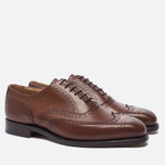 Мужские ботинки броги Tricker's Brogue Oxford Piccadilly Beechnut фото- 1