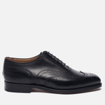 Мужские ботинки броги Tricker's Brogue Oxford Piccadilly Black фото- 0