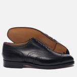 Мужские ботинки броги Tricker's Brogue Oxford Piccadilly Black фото- 2