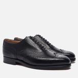 Мужские ботинки броги Tricker's Brogue Oxford Piccadilly Black фото- 1