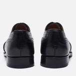 Мужские ботинки броги Tricker's Brogue Oxford Piccadilly Black фото- 3