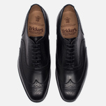 Мужские ботинки броги Tricker's Brogue Oxford Piccadilly Black фото- 4