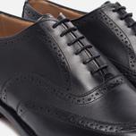 Мужские ботинки броги Tricker's Brogue Oxford Piccadilly Black фото- 5