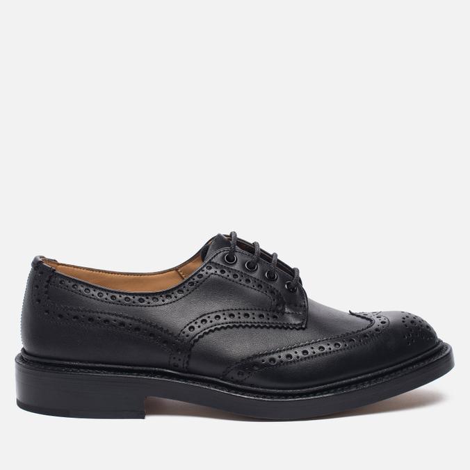 Мужские ботинки броги Tricker's Keswick Sole Leather Black