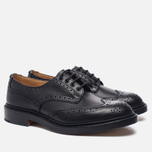 Мужские ботинки броги Tricker's Keswick Sole Leather Black фото- 1