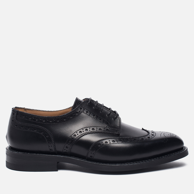 Мужские ботинки броги Tricker's Newbury Derby Sole Dainite Black
