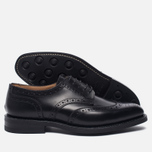 Мужские ботинки броги Tricker's Newbury Derby Sole Dainite Black фото- 2