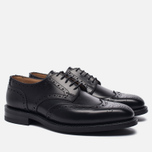 Мужские ботинки броги Tricker's Newbury Derby Sole Dainite Black фото- 1