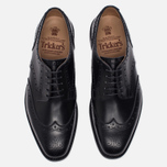 Мужские ботинки броги Tricker's Newbury Derby Sole Dainite Black фото- 4