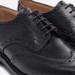 Мужские ботинки броги Tricker's Newbury Derby Sole Dainite Black фото- 5