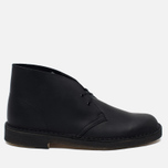 Clarks Originals Desert Boot Leather Men's Shoes Black Smooth photo- 0