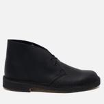 Мужские ботинки Clarks Originals Desert Boot Leather Black Smooth фото- 0