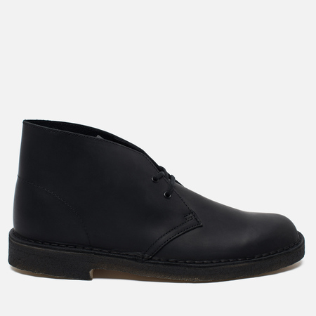 Мужские ботинки Clarks Originals Desert Boot Leather Black Smooth