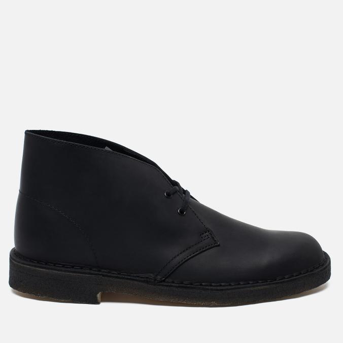 Мужские ботинки Clarks Originals Desert Boot Leather Black Smooth