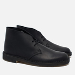 Clarks Originals Desert Boot Leather Men's Shoes Black Smooth photo- 1