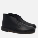 Мужские ботинки Clarks Originals Desert Boot Leather Black Smooth фото- 1