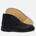 Мужские ботинки Clarks Originals Desert Boot Leather Black Smooth фото- 3