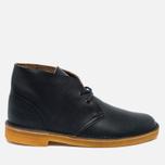 Clarks Originals Desert Boot Leather Petrol Men's Shoes Blue Lea photo- 0