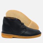 Clarks Originals Desert Boot Leather Petrol Men's Shoes Blue Lea photo- 1