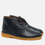 Мужские ботинки Clarks Originals Desert Boot Leather Petrol Blue фото- 2