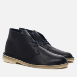 Мужские ботинки Clarks Originals Desert Boot Navy Tumbled Leather фото- 2